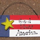 10977GBA - God Bless America Wood Sign