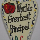 Teacher Gifts 3017 Worlds Greatest Principal Long Heart w/Apple School Position