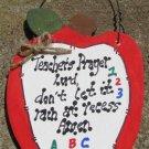 Teacher Gifts 691 Teacher Prayer Apple Wood