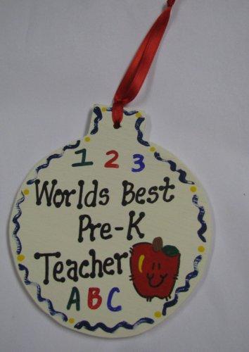 Teacher Gifts 9017 PK Worlds Best Pre-K Ornament