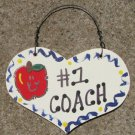 Teacher Gifts 816 Coach Wood Teacher Heart