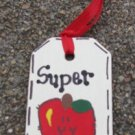 Teacher Gifts 56122ST Super Teacher Wood Teacher Tag