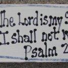 BP4010- The Lord is My Shepherd Scripture Wood Block