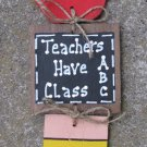 92St - Teacher Stringer - Apple, Slate and Pencil