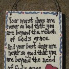91101 God's Grace Hand Painted Wood Sign