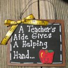 Teacher Gifts 38 Teacher AIde Helping Hand Wood Slate
