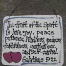 Crafts Wood Scripture Sign 4008 The Fruit of the Spirit is