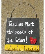 Teacher Gift 5210 Teachers Plant the seeds of the future with Ruler/Apple Wood