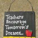 Teacher Gift 5207 Teachers Encourage Tomorrow's Dreams with Ruler/Apple