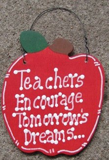 Teacher Gifts Wood Apple Teachers Encourage Tomorrow's Dreams