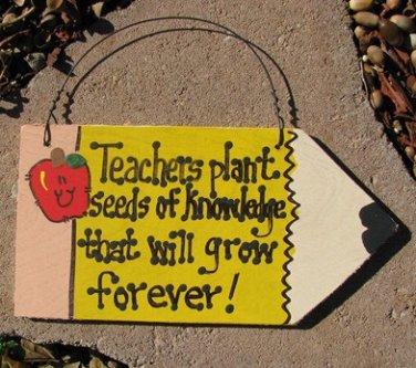Teacher Gifts Wood Pencils 29 Teachers Plant Seeds