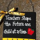 Teacher Gift 5217TS - Teachers Shape with Ruler/Apple Wood Sign