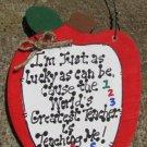 Teacher Gifts 682 Lucky Teacher Apple