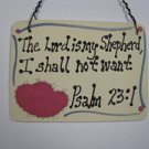 Crafts Wooden Scripture Sign 4010 The Lord is my Shepherd