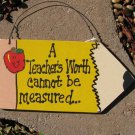 Teacher Gifts Wood Pencil 22 A Teacher's Worth Cannot Be Measured