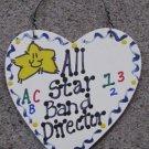 Teacher Gifts 5042 All Star Band Director Handmade Wood Heart