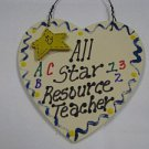 Teacher Gifts 5022 All Star Resource Teacher Handmade Wood Heart