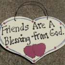 Wood Sign Hand Painted Friends 1030F Blessing from God