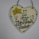 Teacher Gifts 5002 All Star Third Grade Teacher Wood