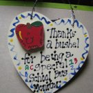 Teacher Gifts 6030 Thanks a Bushel Special School Bus Monitor Wood Heart