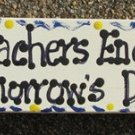 Teacher Gifts B5025 Wood Block Teacher Encourage Tomorrow's Dreams Hand Painted