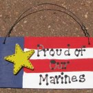 Patriotic Sign 10977M-Proud of our Marines Wood Sign