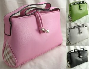 Small Squared Handbag With Toggle Closure