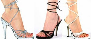 Women's Multi-Strap Sandal with High Heel and Ankle Wrap