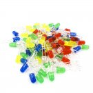 100pcs 5mm LED diode Light Assorted Kit DIY LEDs Set White Yellow Red Green Blue