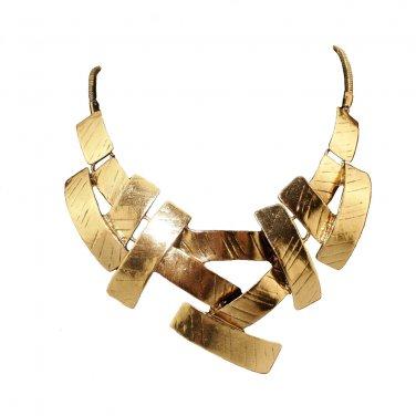 Vintage Bib Choker Necklace Women Cross Metal Pendant Snake Chain Maxi Collar Statement Jewelry