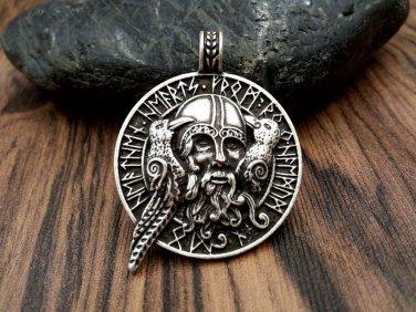 pendant viking amulet raven pendant norse jewelry odin pendant