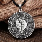 Pendant Necklace Valknut Raven RUNE PENDANT Knot Viking Amulet