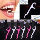 100pcs/pack Interdental Dental Flosser Brush Teeth Stick  Plastic Tooth Picks Nylon