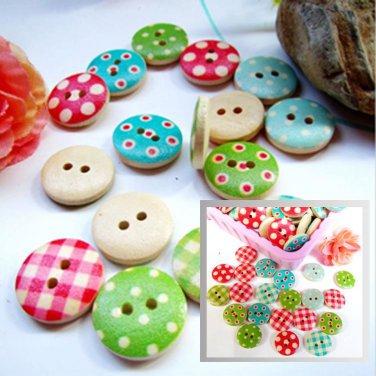 50PCS NEW Mixed color 15mm polka dot polka dot rustic plaid handmade diy accessories small