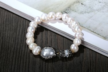 Natural White Freshwater Pearl Bracelet for Women High Quality Female Jewelry