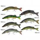 "5"" / 12.5cm 20g Fishing Lures Lifelike 9-segement Pesca Swimbait Crankbait Hard Fishing"