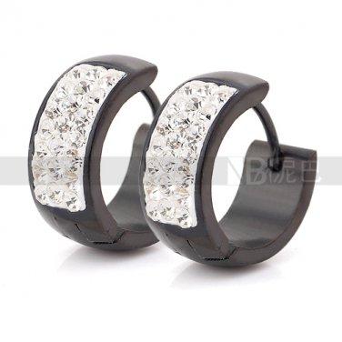 jewelry fashion women earrings Elegant Black Gun Plated CZ Lady Earrings