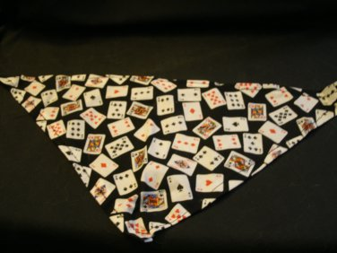 Dog Bandana with Playing Cards Size Small