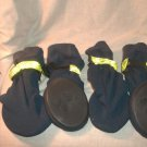COMPANION ROAD Footwear Dog Boots Shoes XL X-Large Fluorescent Reflective Bands