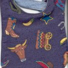 Handmade Southwestern Baby Bib Cowboy Boots Peppers