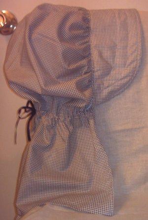 Womens Pioneer Prairie Bonnet Dark Blue & White Gingham