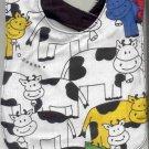 New Handmade Cows Baby Bib