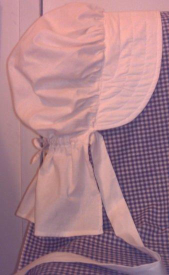 Womens Pioneer Prairie Bonnet Unbleached Muslin