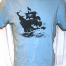 Old Navy Sailing Ship T Shirt Blue Large