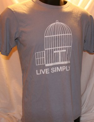 ORGANIC Patagonia Live Simply Medium Gray Slim Fit T Shirt