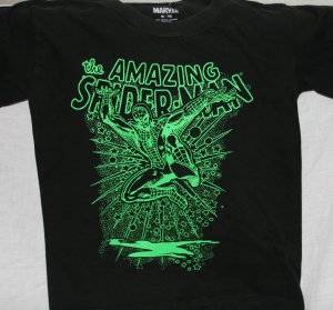 AMAZING SPIDER-MAN Black Medium KIDS T Shirt MAD ENGINE