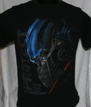 TRANSFORMERS PROTECT Kids BLACK XL 12/14 T Shirt