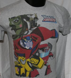 TRANSFORMERS ANIMATED Kids L Gray T SHIRT