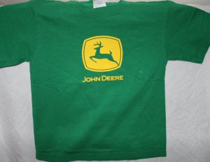 JOHN DEERE Kids SMALL 6/8 Green T SHIRT