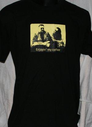 BIG LEBOWSKI Enjoyin' my Coffee BLACK XL T Shirt